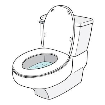 Wektor spłukiwanej toalety