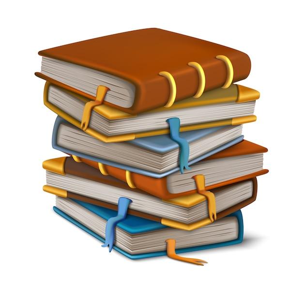 Wektor stare książki ułożone