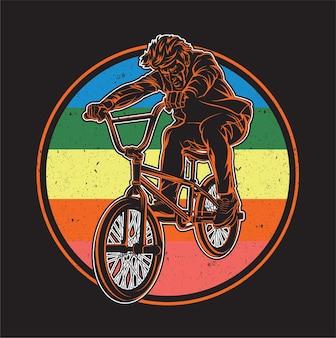 Wektor stock vector rower bmx rower bmx na białym tle