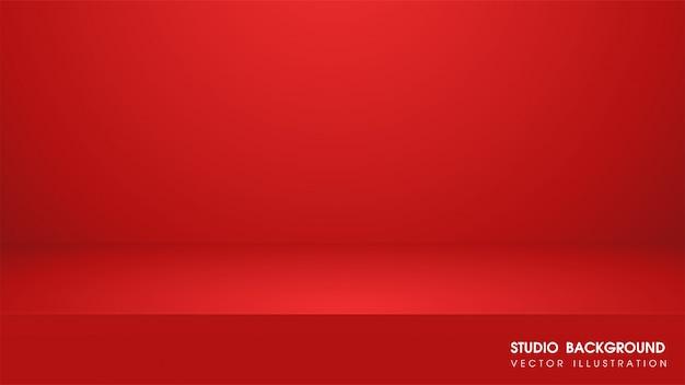 Wektor stół z czerwonym dywanem do tworzenia nośników reklamowych do sprzedaży produktów.