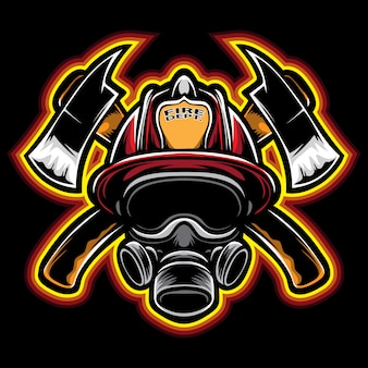 Wektor strażaka