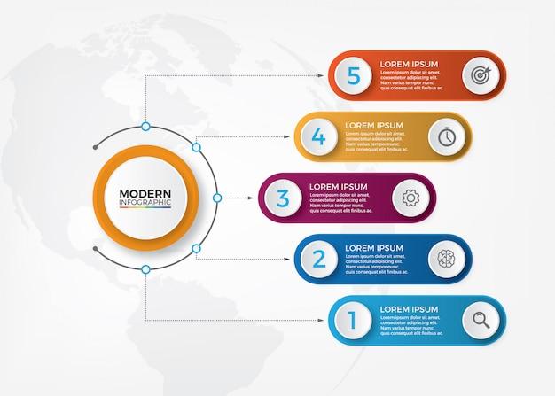 Wektor streszczenie 3d elementy infographic papieru. infografiki biznesu.