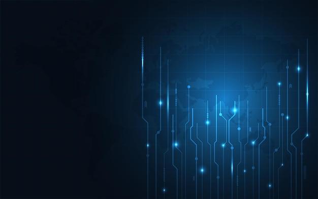 Wektor streszczenie futurystyczny obwód drukowany. zaawansowana koncepcja technologii cyfrowej. przyszły rozwój innowacji. abstrakcyjne tło.