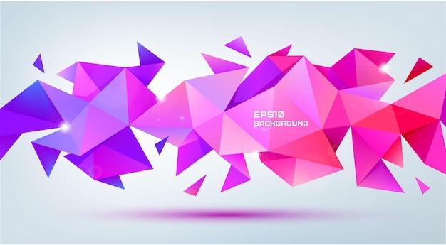 Wektor streszczenie geometryczny kształt 3d aspekt. użyj do banerów, stron internetowych, broszur, reklam, plakatów itp. tło w nowoczesnym stylu low poly. wielobarwność