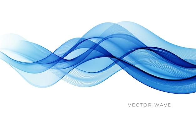 Wektor streszczenie kolorowe linie płynące fale na białym tle element projektu na wesele ...