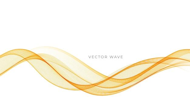 Wektor streszczenie kolorowe płynące złote linie falowe na białym tle element projektu
