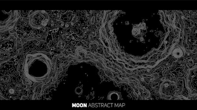 Wektor streszczenie mapa ulga księżyca