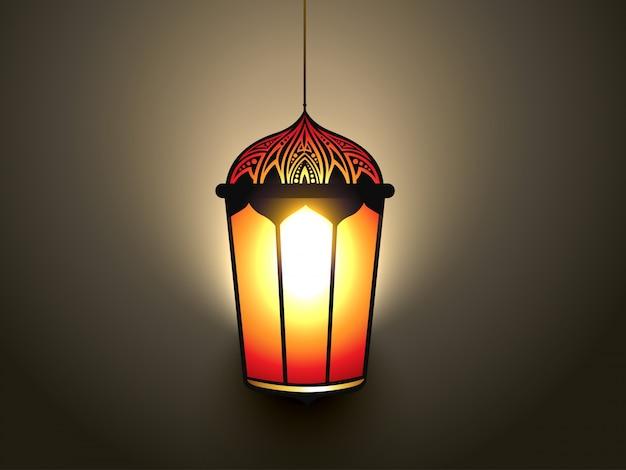 Wektor świecące islamskiego projektu światła