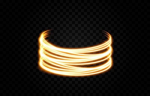 Wektor świecące linie świetlne światło neonowe światło elektryczne portal efekt świetlny png