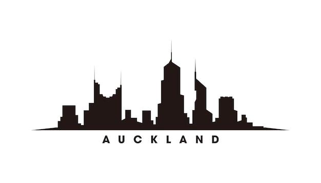 Wektor sylwetka panoramę auckland