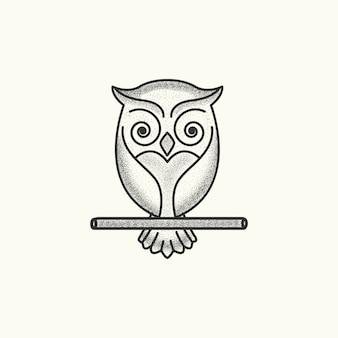 Wektor szablon logo sowa