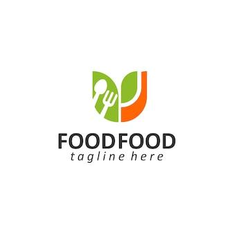 Wektor szablon logo żywności wektor koncepcji logo zdrowej żywności