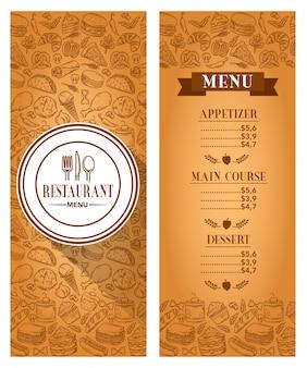 Wektor szablon menu restauracji