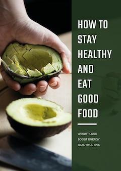 Wektor szablon plakatu zdrowego trybu życia