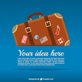 Wektor szablon podróż walizka