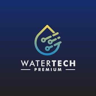 Wektor szablon projektu logo technologii wody