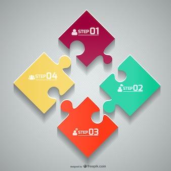 Wektor szablon puzzle układanki