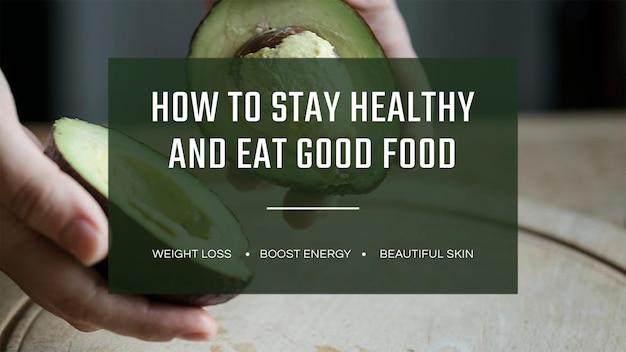 Wektor szablon transparentu zdrowego trybu życia
