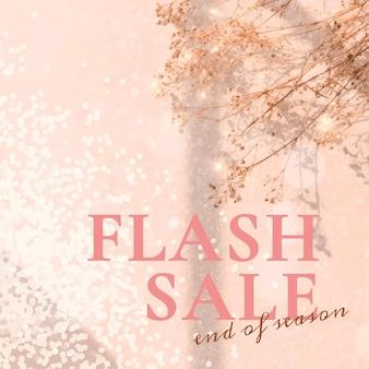 Wektor szablonu baneru sprzedaży flash dla reklam w mediach społecznościowych