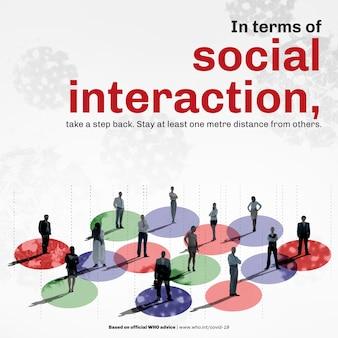Wektor szablonu dystansu społecznego