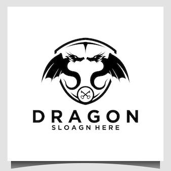 Wektor szablonu logo smoka