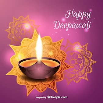 Wektor szczęśliwy Deepawali