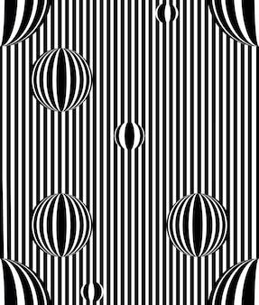 Wektor sztuki optycznej złudzenie optyczne wzór czarno-białe tło