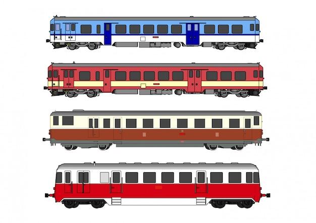 Wektor szybki pociąg i pociąg parowy
