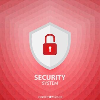 Wektor tarcza bezpieczeństwa szablon