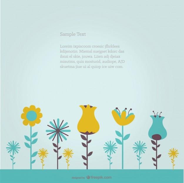 Wektor tła z kwiatami