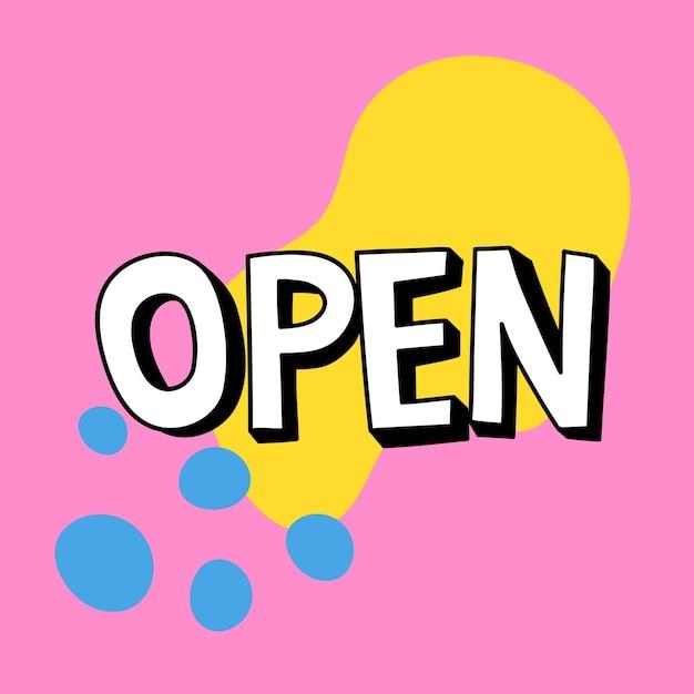 Wektor typografii z otwartym cieniem