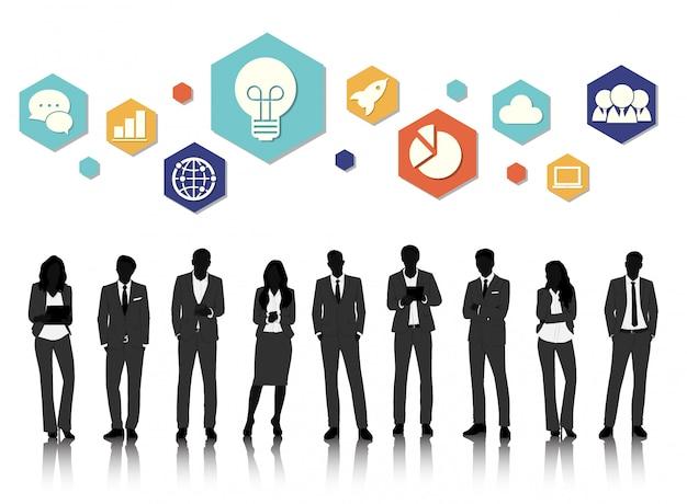 Wektor ui ilustracja koncepcja ludzie biznesu