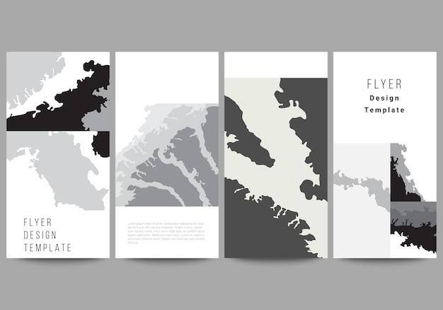 Wektor układ szablonów projektów banerów ulotki na stronie internetowej projektowanie reklam pionowy projekt ulotki strona internetowa dekoracja tła krajobraz tło dekoracja półtonów wzór grunge tekstury