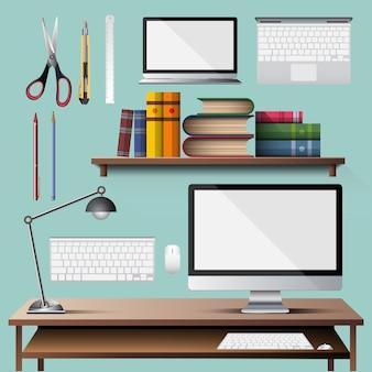 Wektor urządzenia biurowego