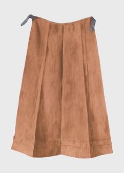 Wektor vintage brązowej spódnicy, zremiksowany z grafiki autorstwa betty fuerst