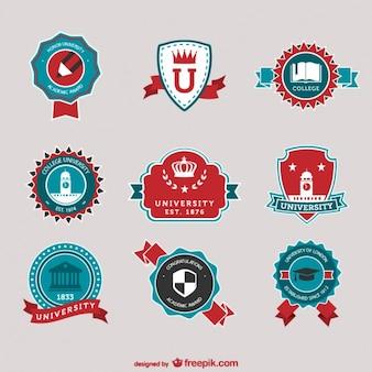 Wektor wektor kolekcja logo uczelni