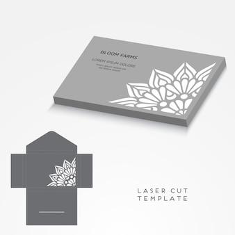 Wektor wesele karty laserowe cięcie szablon