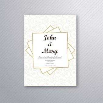 Wektor wesele zaproszenie szablon karty