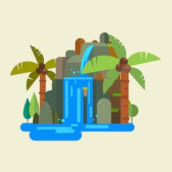Wektor wodospad