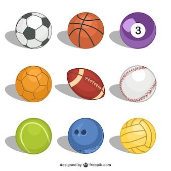Wektor wolne piłki sportowe