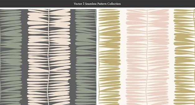 Wektor współczesny nowoczesny kształt liścia motyw ilustracja bezszwowe powtarzanie wzoru wystrój domu druku