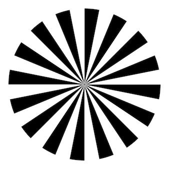 Wektor wykres testu oka. ostrość widzenia