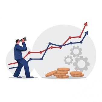 Wektor wyników biznesowych prognozowania biznesowego