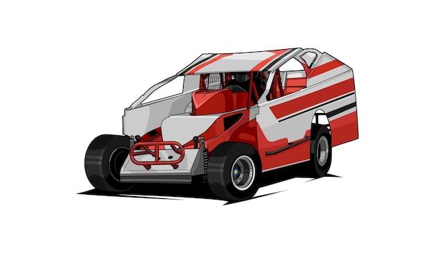 Wektor wyścigów samochodowych