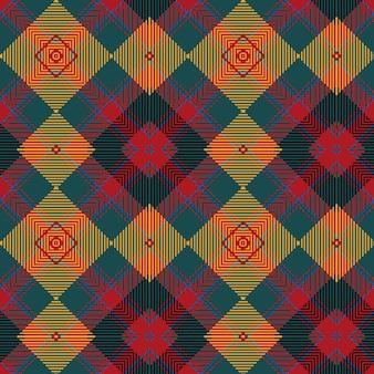 Wektor wzór bezszwowe kratę. tło. bezszwowa krata w szkocką kratę. geometryczny wzór mody.