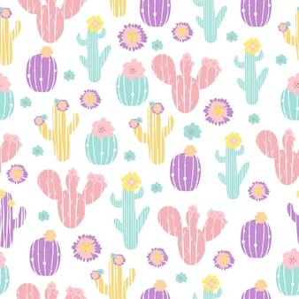 Wektor wzór kaktusów