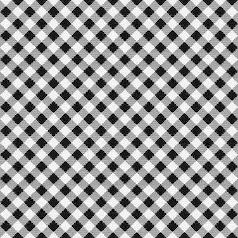 Wektor wzór kratki bezszwowe bawełniany materiał w kratkę