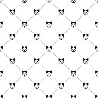 Wektor wzór, pies, edytowalny może być używany do tła stron internetowych, wypełnienia deseniem