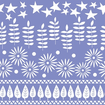 Wektor wzór. pozdrowienie projekt tło. ręcznie rysowane tła z drzew, kwiatów i liści