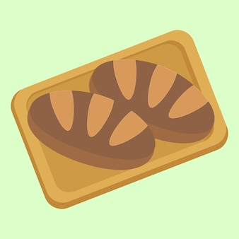 Wektor wzór smacznego elementu chleba
